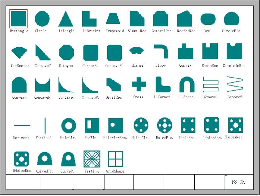 Thư viện hình mẫu cắt Plasma CNC với 48 hình cắt mẫu