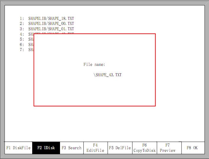 Trong danh sách có trong USB lựa chọn file cần tải vào -> Lưu file lựa chọn vào trong máy